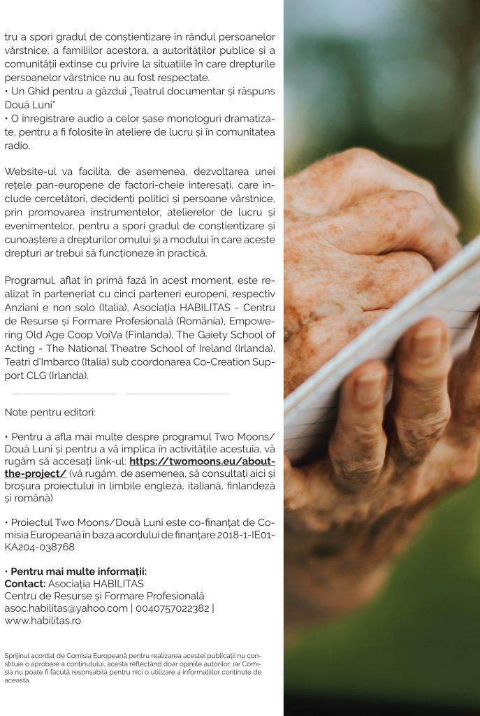 SĂ FACEM DIN DREPTURILE OMULUI O REALITATE elaborarea de resurse educaționale pentru persoanele vârstnice